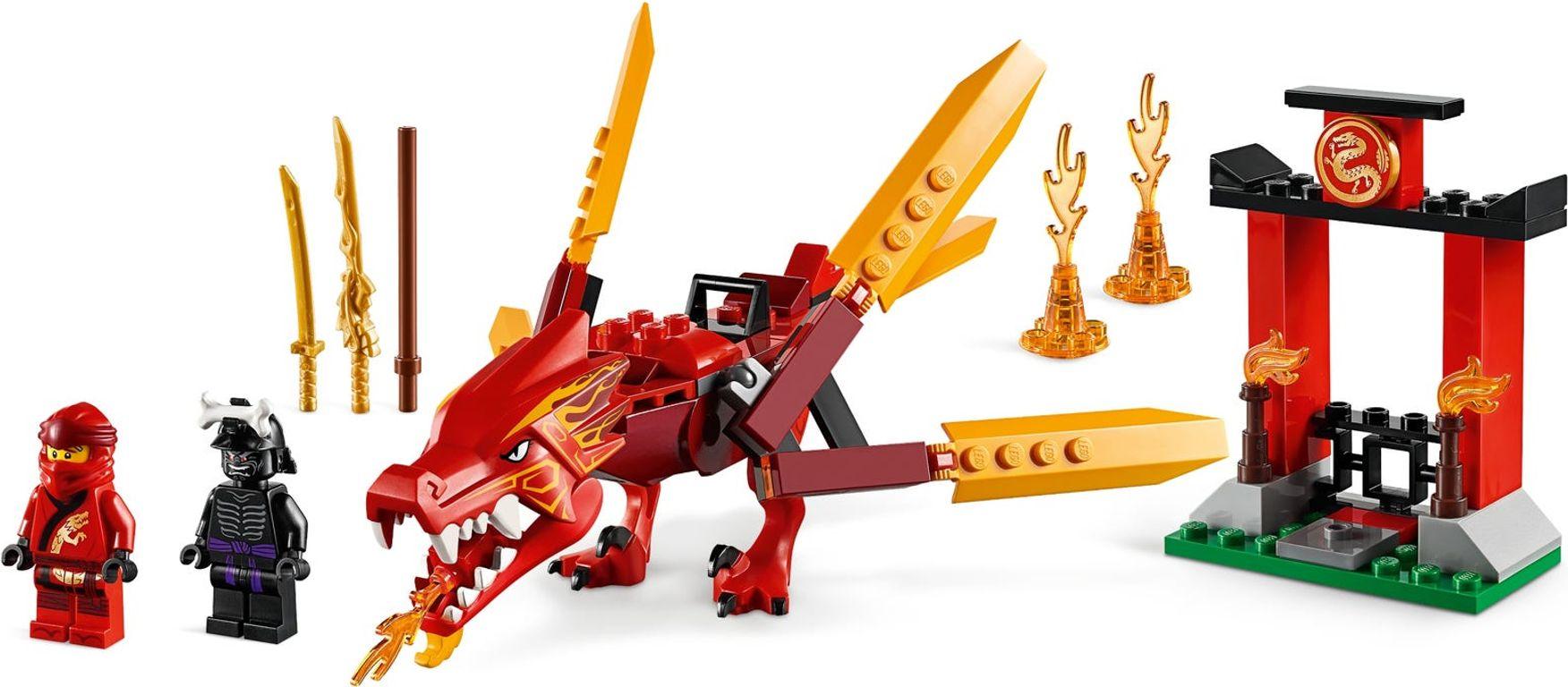 Kai's Fire Dragon minifigures