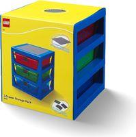 Transparent Blue LEGO® Rack System