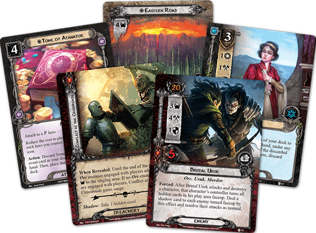 The Lord of the Rings: The Card Game - The Blood of Gondor cards