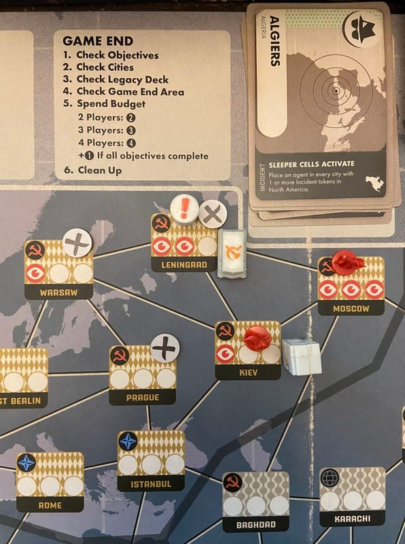 Pandemic Legacy: Season 0 game board