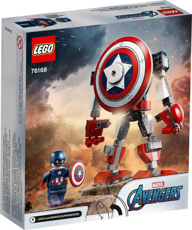 LEGO® Marvel Captain America Mech Armor back of the box