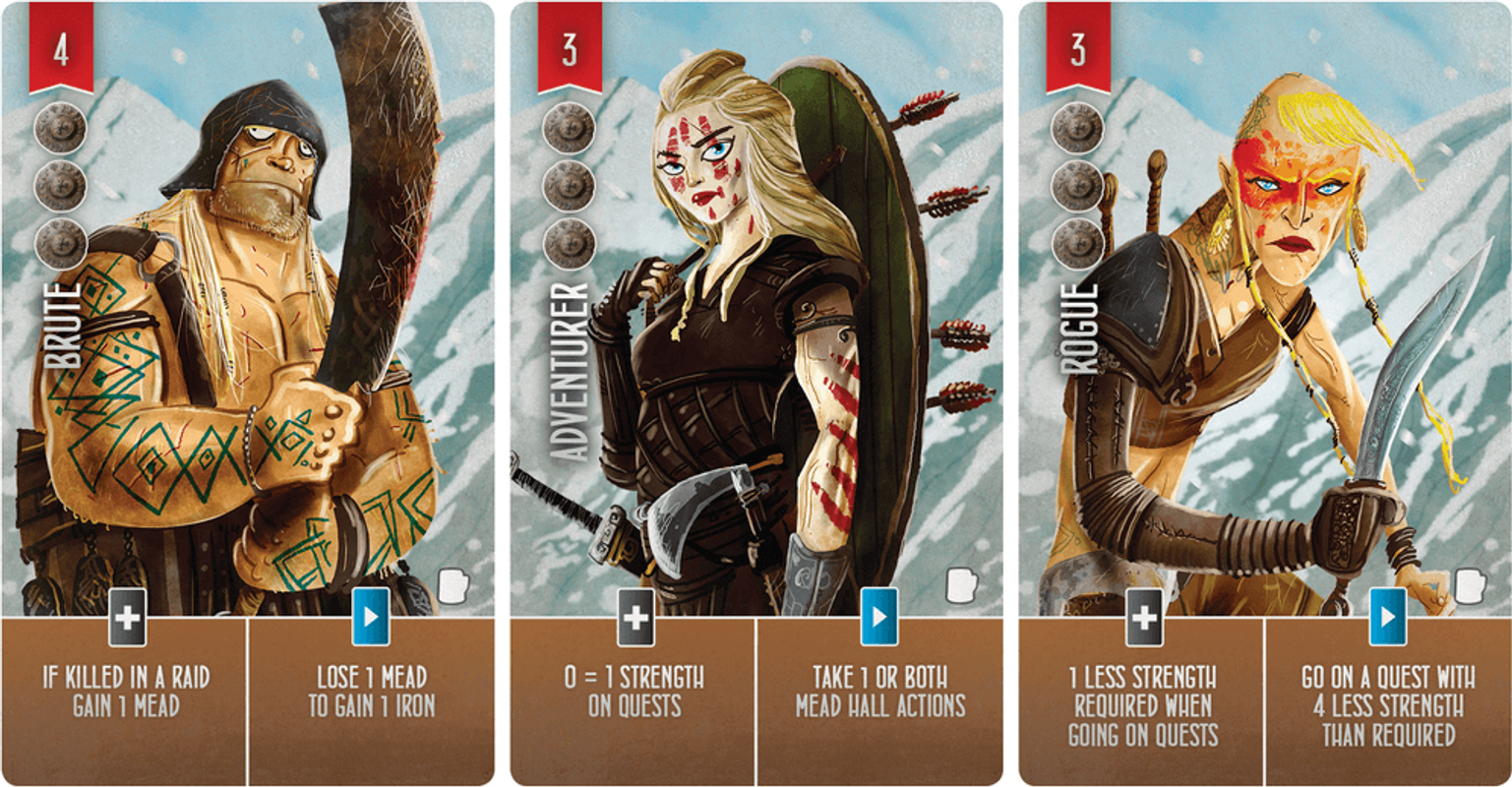 Raiders of the North Sea: Hall of Heroes cards