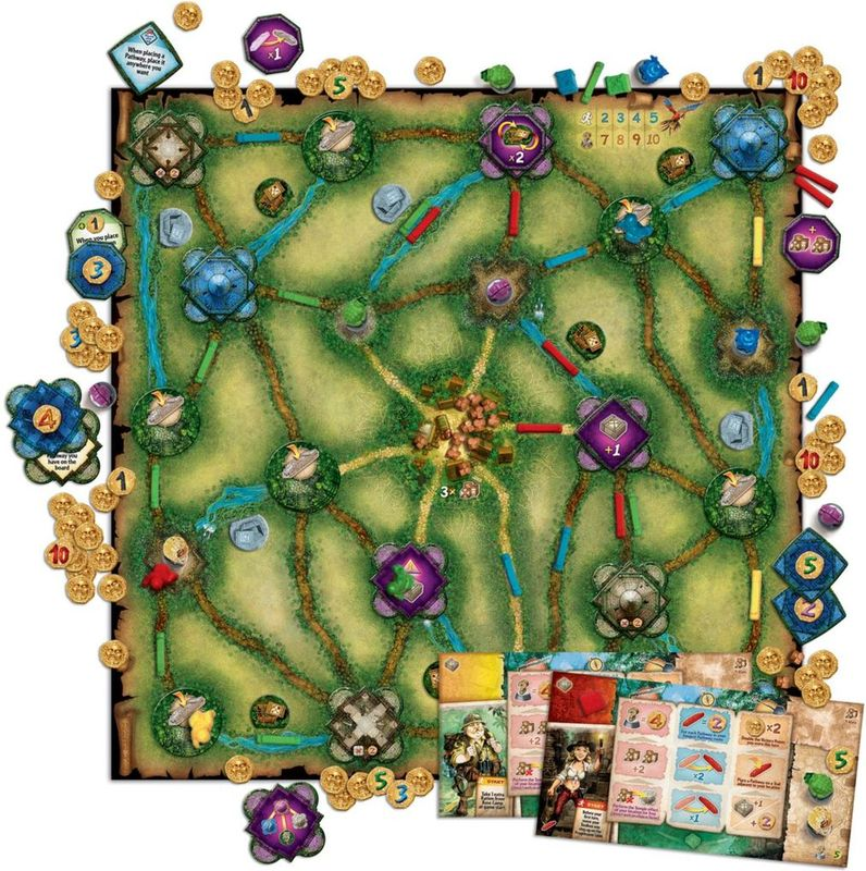 Relic Runners game board