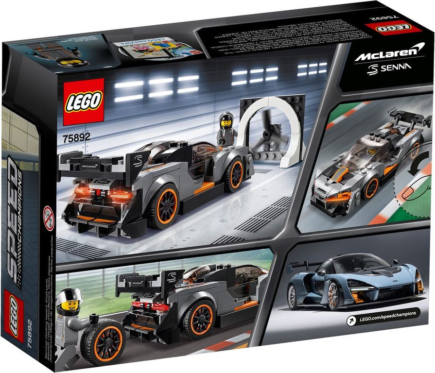LEGO® Speed Champions McLaren Senna back of the box