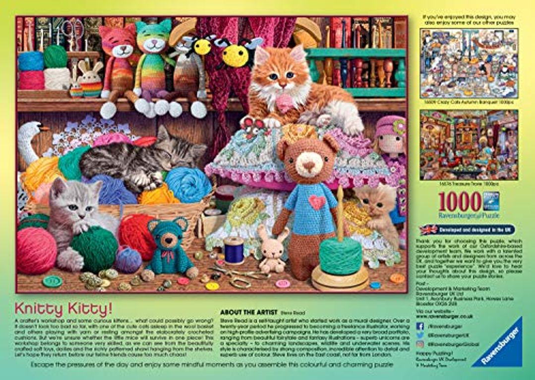 Knitty Kitty back of the box