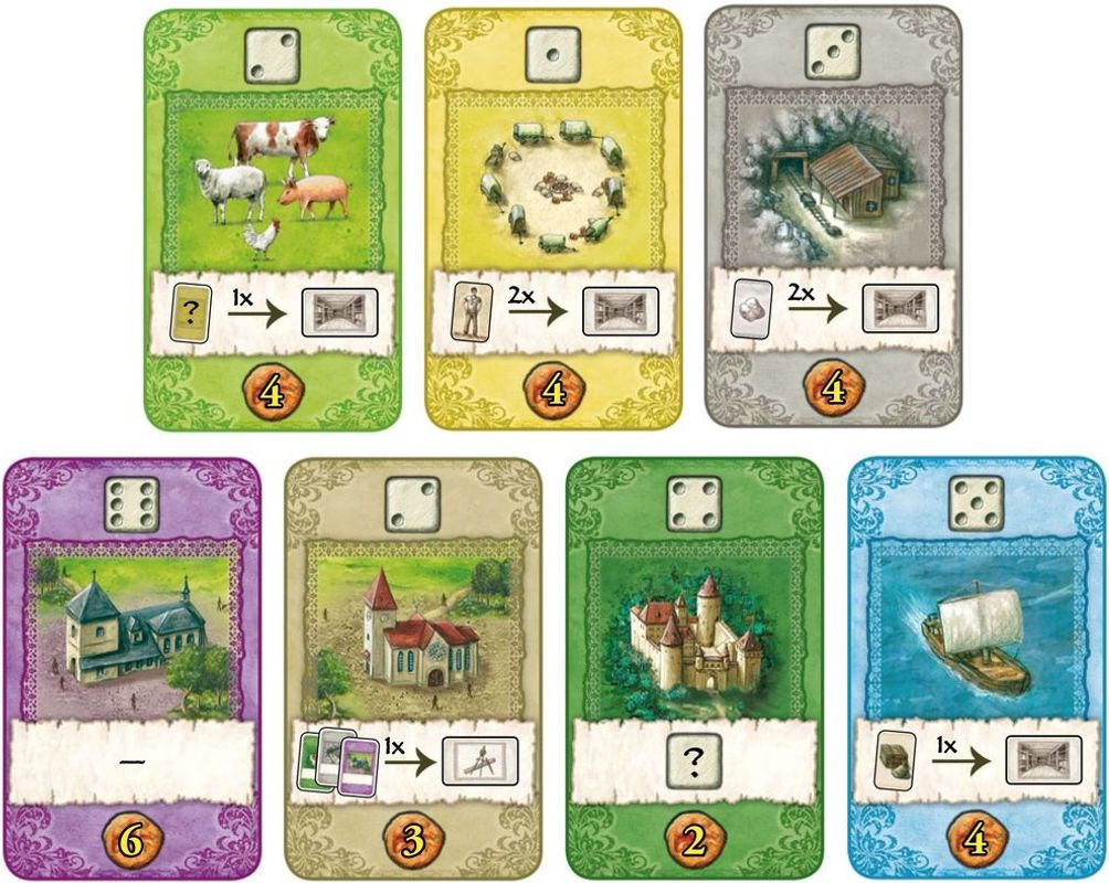 The Castles of Burgundy: The Card Game cards