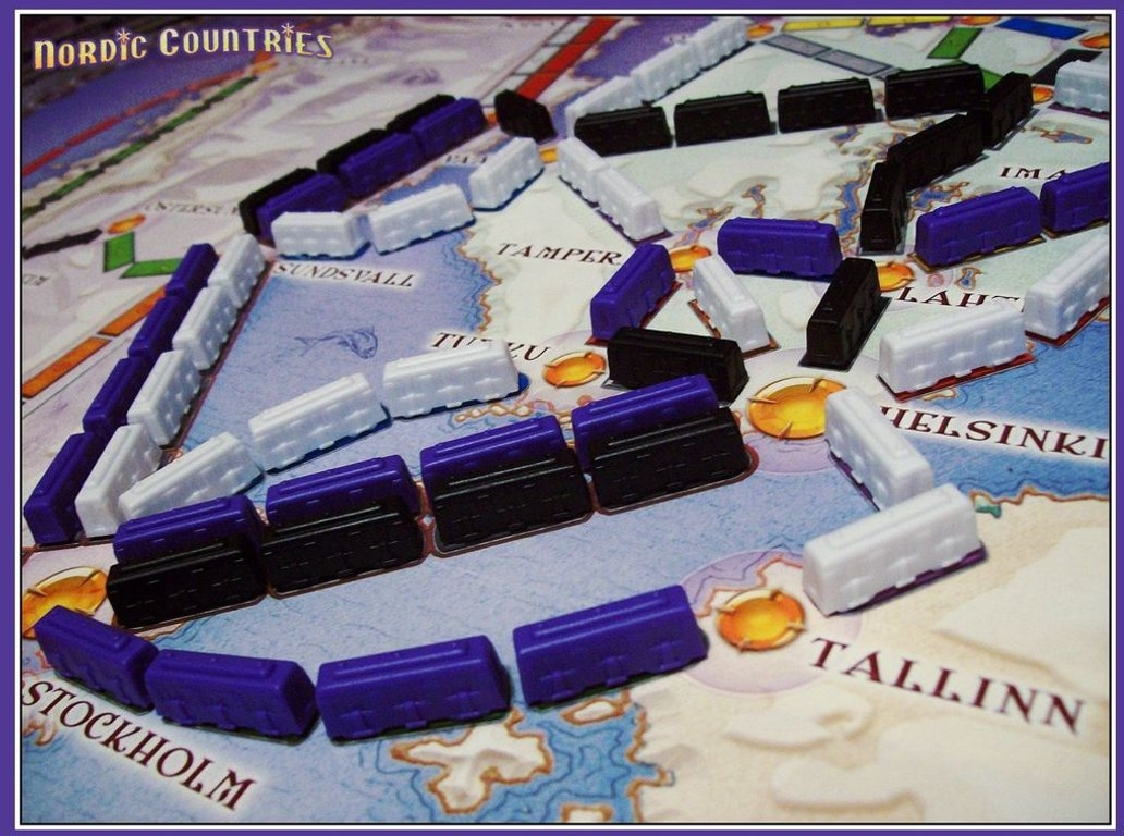 Ticket to Ride: Nordic Countries gameplay