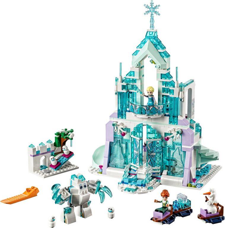 LEGO® Disney Elsa's Magical Ice Palace components