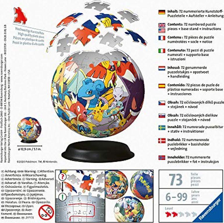Puzzle-Ball Pokémon back of the box