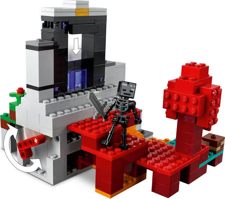 LEGO® Minecraft The Ruined Portal components
