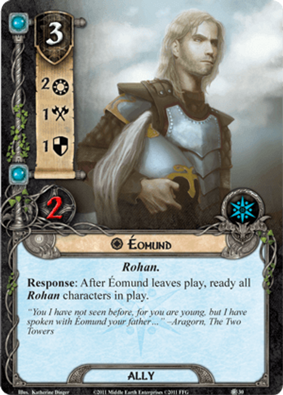 The Lord of the Rings: The Card Game - Conflict at the Carrock Eohund card