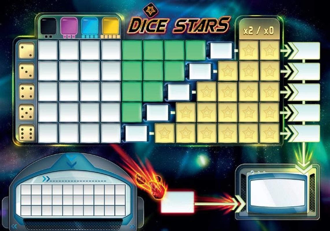 Dice Stars game board