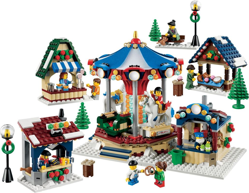 Winter Village Market components