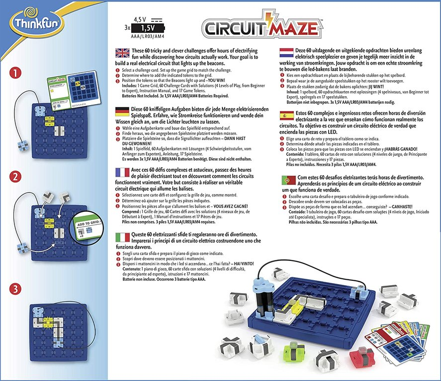Circuit Maze back of the box