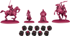 A Song of Ice & Fire: Tabletop Miniatures Game – Targaryen Starter Set components