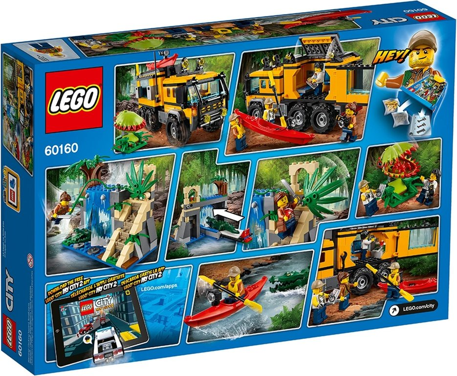 LEGO® City Jungle Mobile Lab back of the box