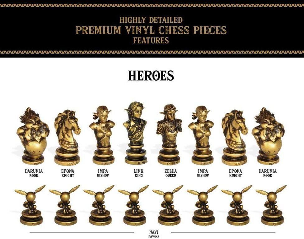 The Legend of Zelda Collector's Chess Set heroes