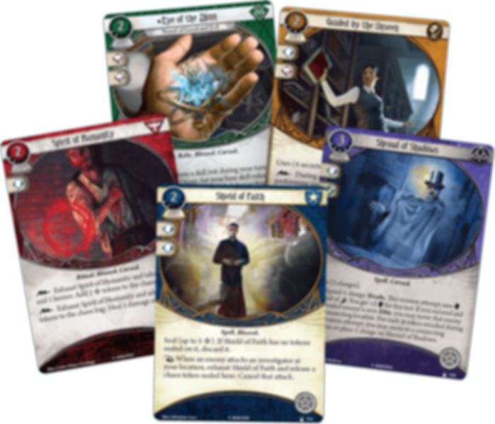 Arkham Horror: The Card Game – A Light in the Fog: Mythos Pack cards