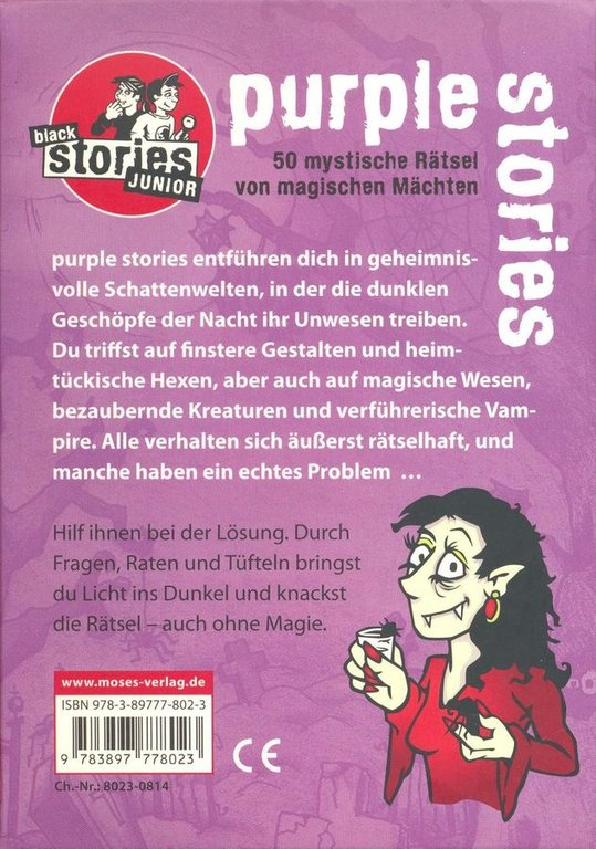Purple Stories back of the box