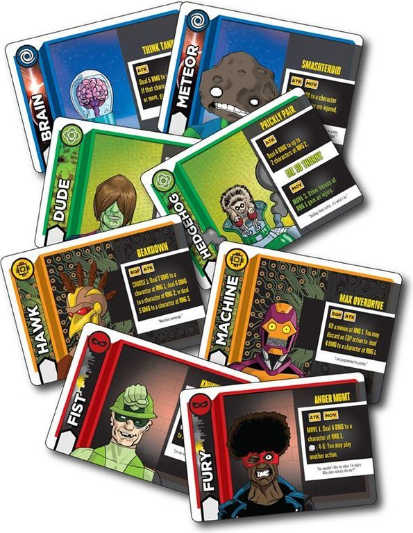 Heroes Wanted cards