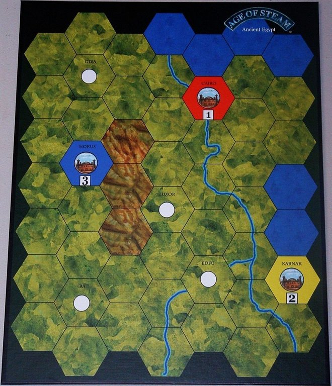 Age of Steam Expansion: Time Traveler game board