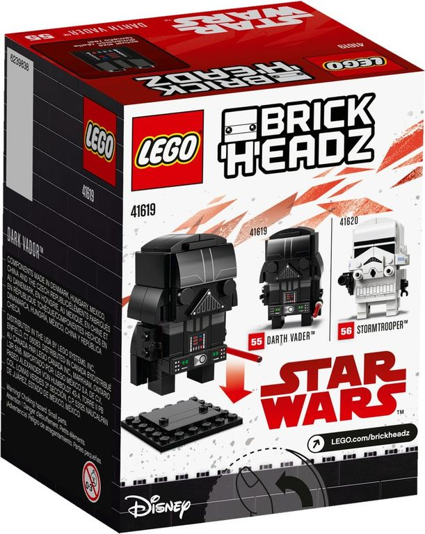 LEGO® BrickHeadz™ Darth Vader™ back of the box
