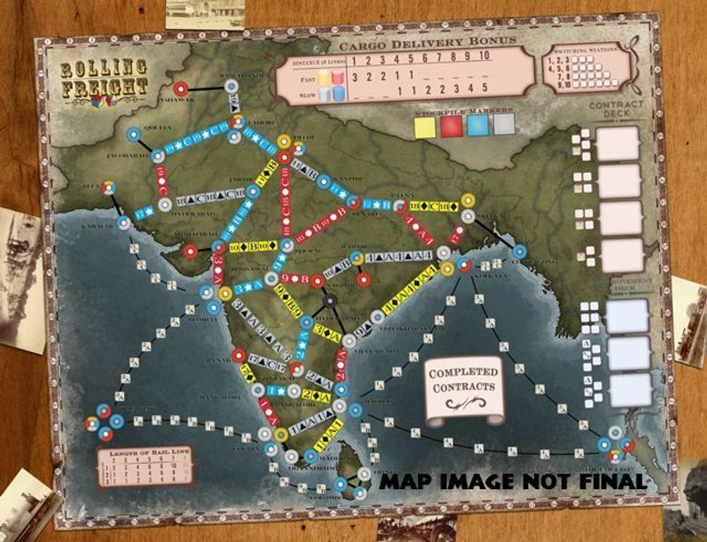 Rolling Freight: Great Britain and India game board