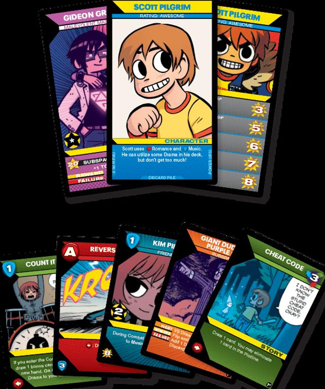 Scott Pilgrim's Precious Little Card Game cards