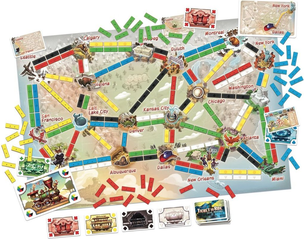 Ticket to Ride: First Journey components