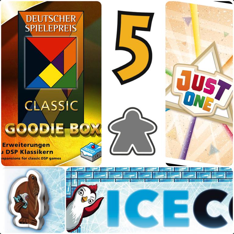 Deutscher Spielepreis Classic Goodie Box components