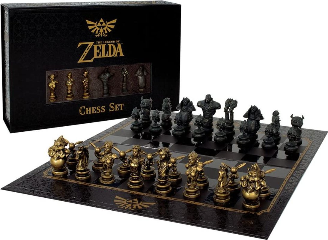 The Legend of Zelda Collector's Chess Set components