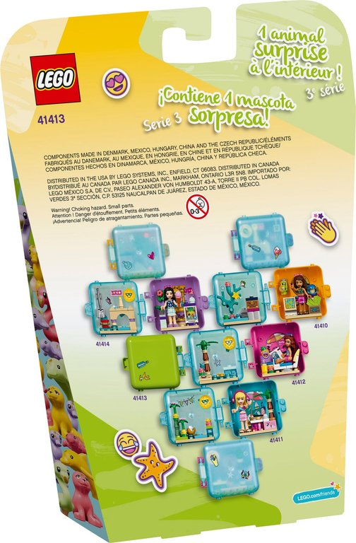 LEGO® Friends Mia's Summer Play Cube back of the box