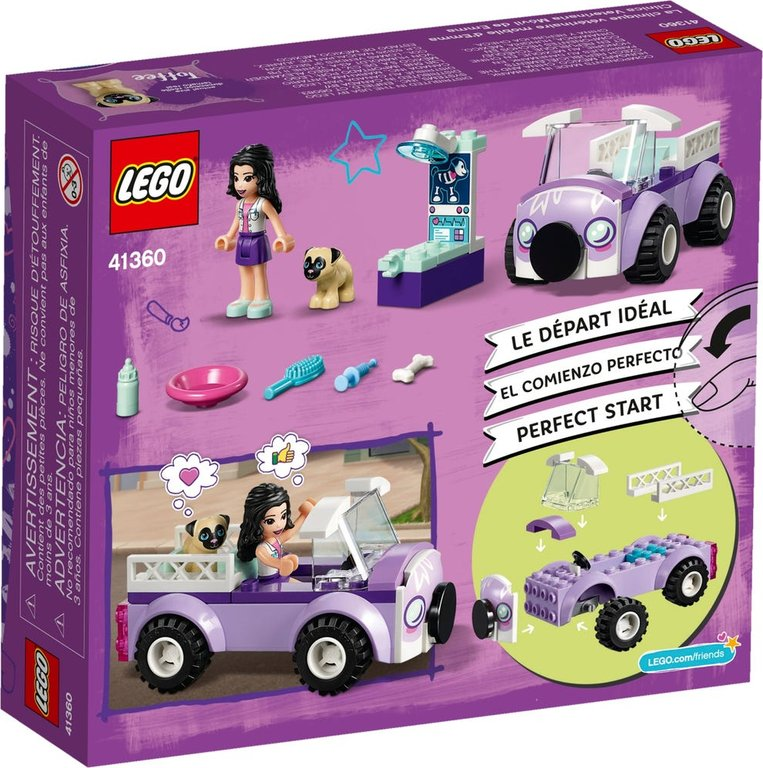 LEGO® Friends Emma's Mobile Vet Clinic back of the box