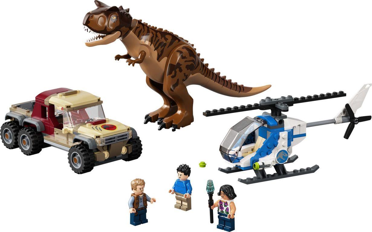 LEGO® Jurassic World Carnotaurus Dinosaur Chase components
