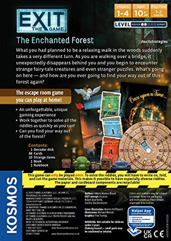 Exit: The Game – The Enchanted Forest back of the box