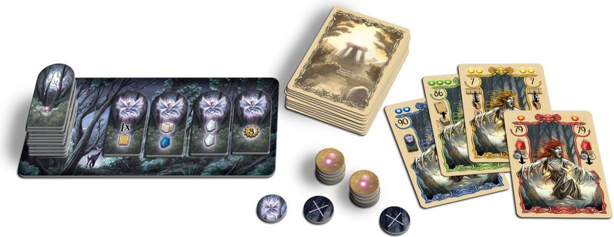 Rune Stones: Nocturnal Creatures components