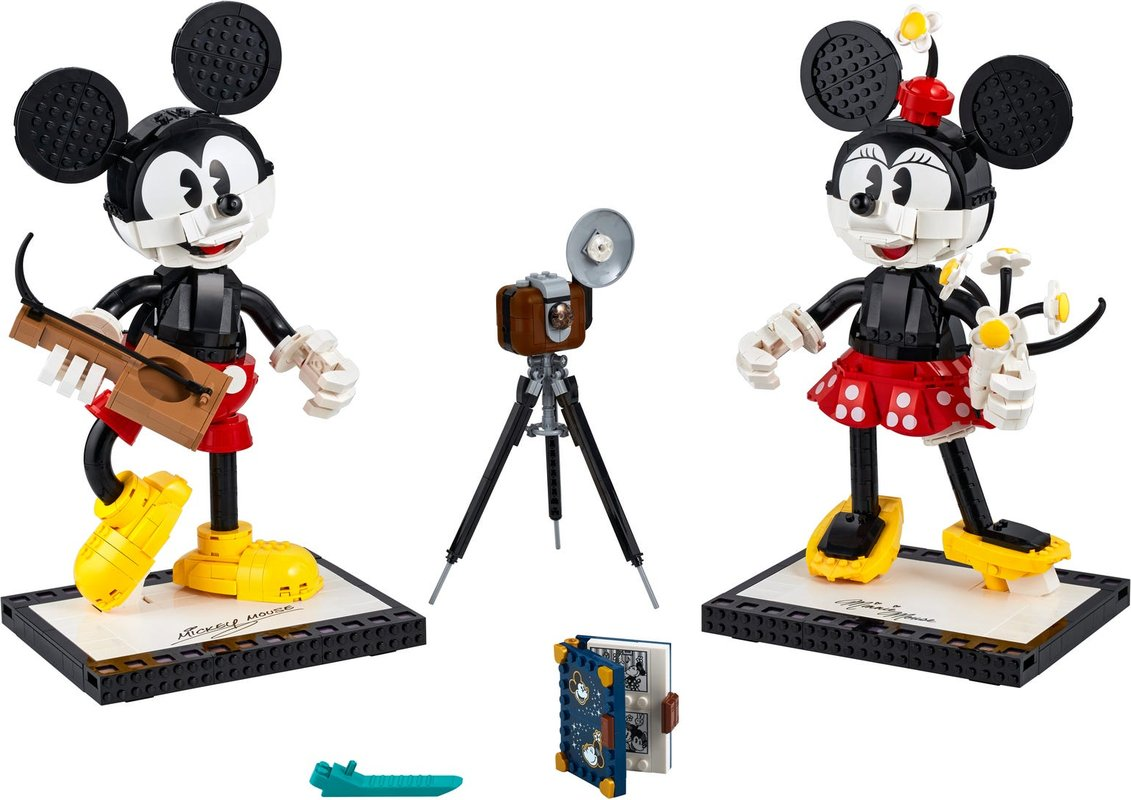 Mickey Mouse & Minnie Mouse Buildable Characters components