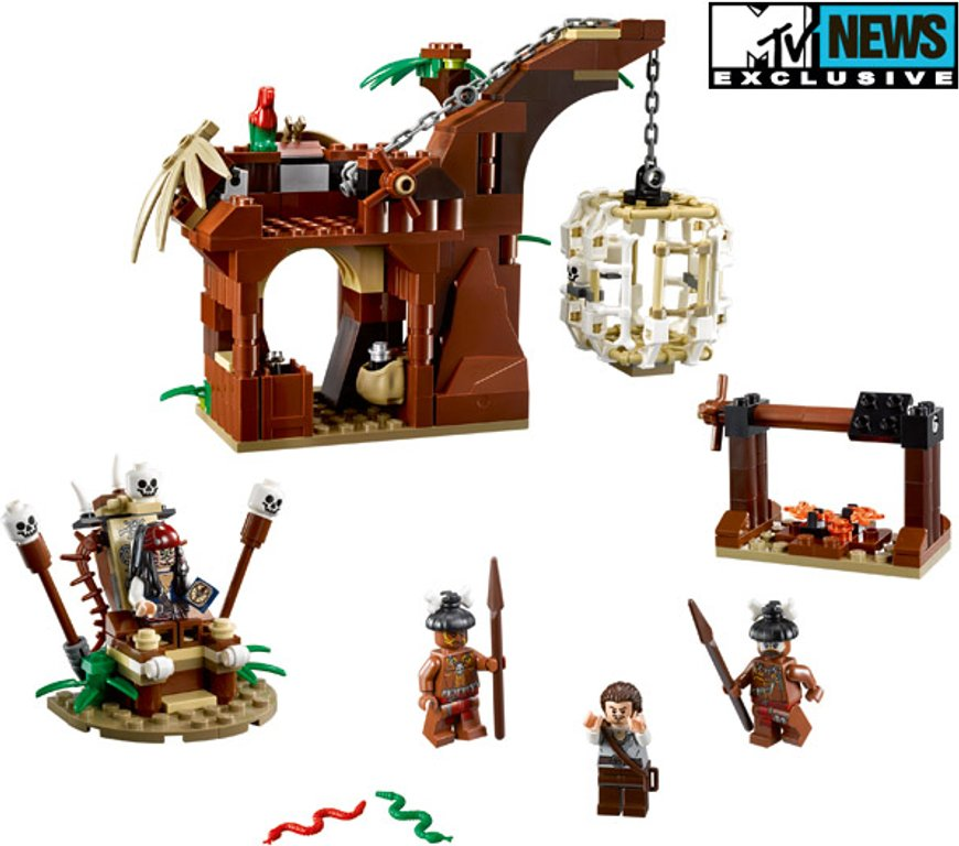 LEGO® Pirates of the Caribbean The Cannibal Escape components