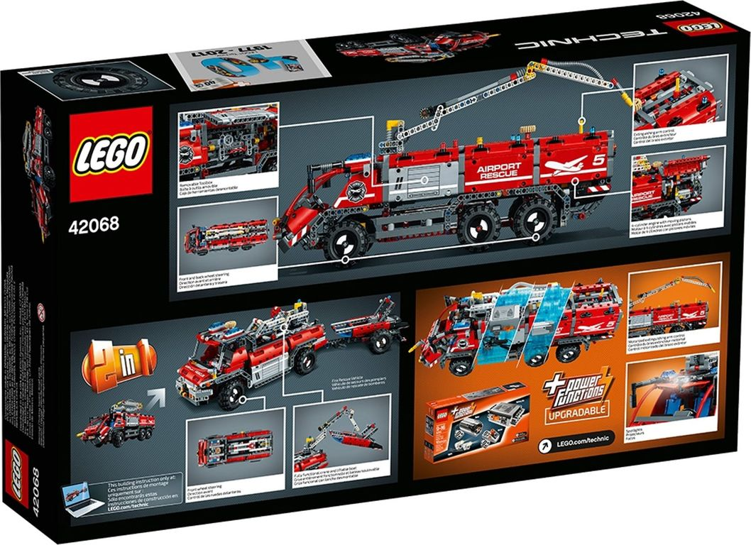 LEGO® Technic Airport Rescue Vehicle back of the box