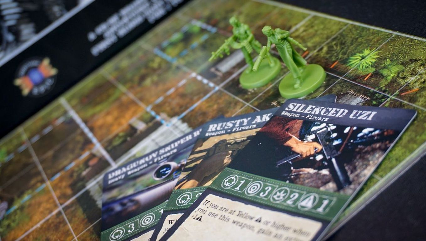Rambo: The Board Game components