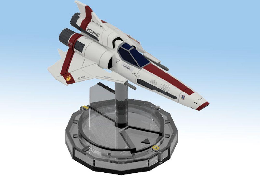 Battlestar Galactica: Starship Battles - Viper MK. II miniature