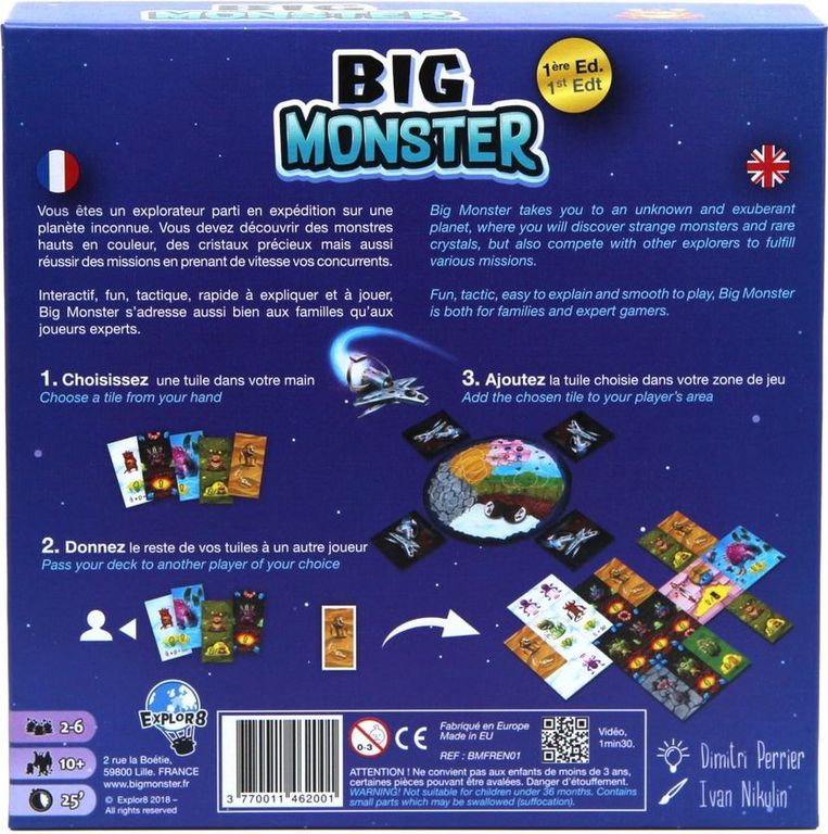 Big Monster back of the box