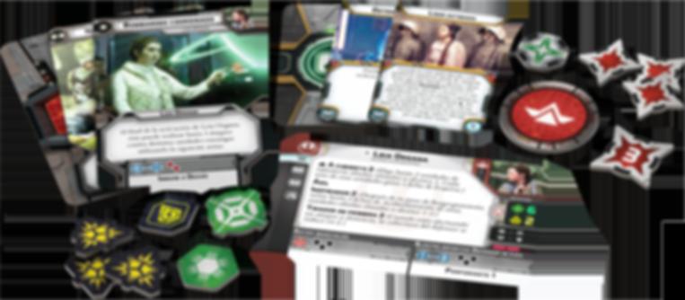 Star Wars: Legion - Leia Organa Commander Expansion components