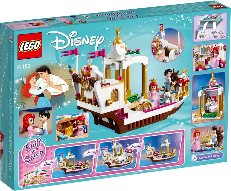 LEGO® Disney Ariel's Royal Celebration Boat back of the box