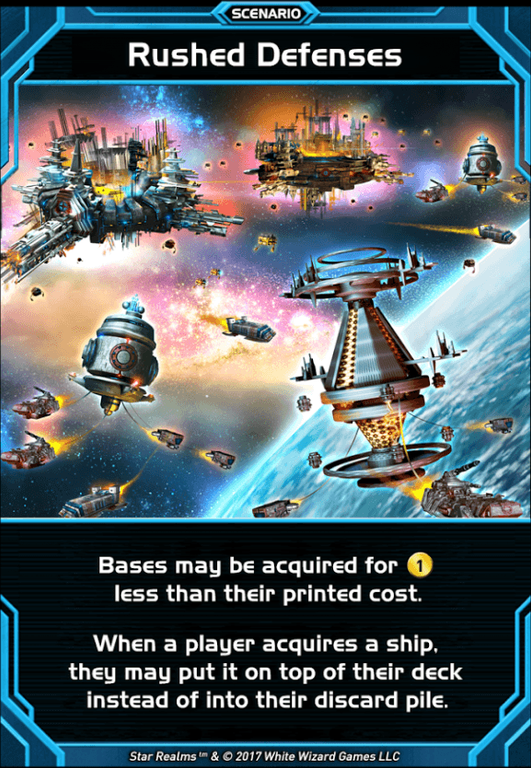 Star Realms: Scenarios Rushed Defenses card