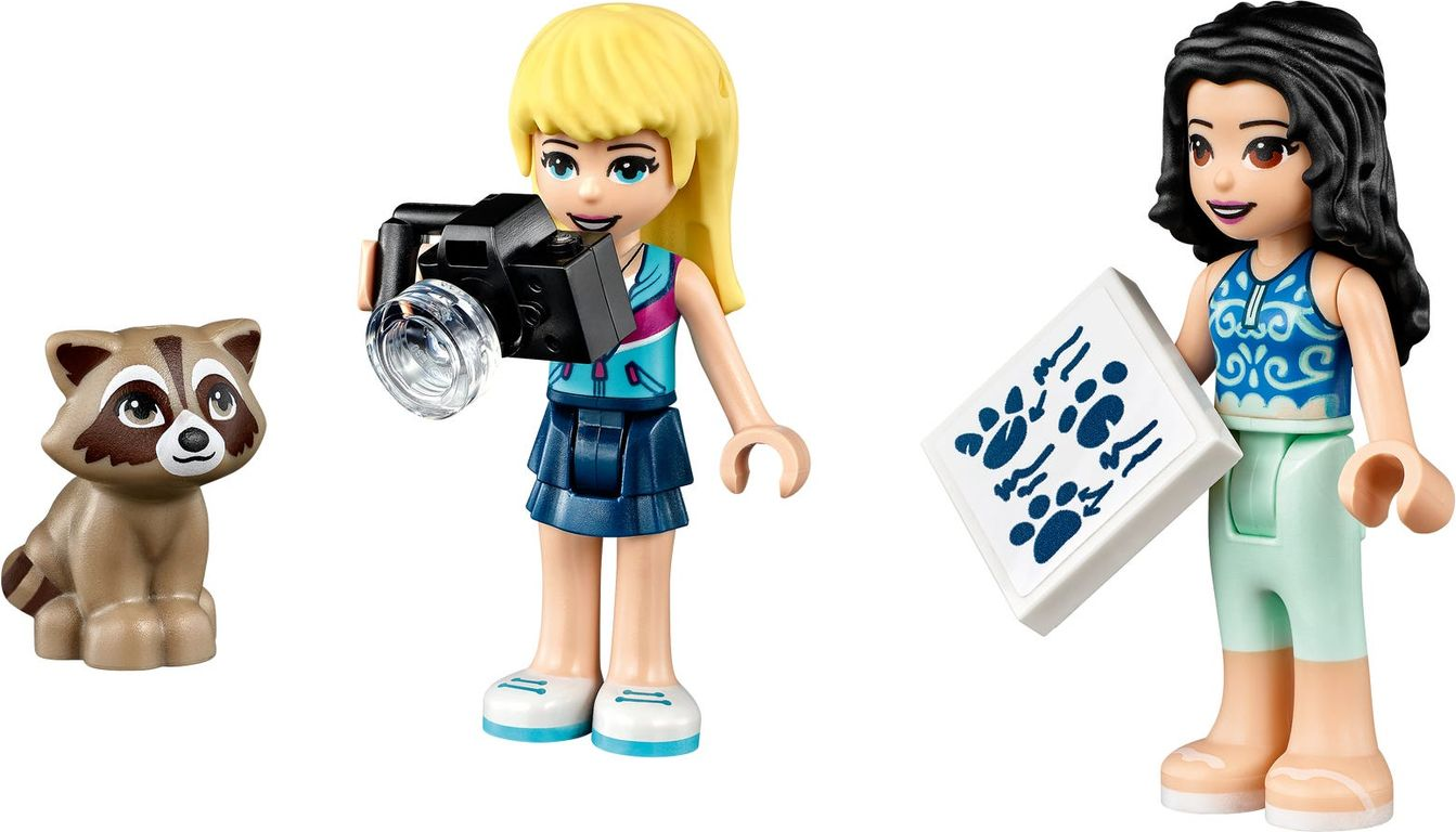 LEGO® Friends Forest Camper Van and Sailboat minifigures