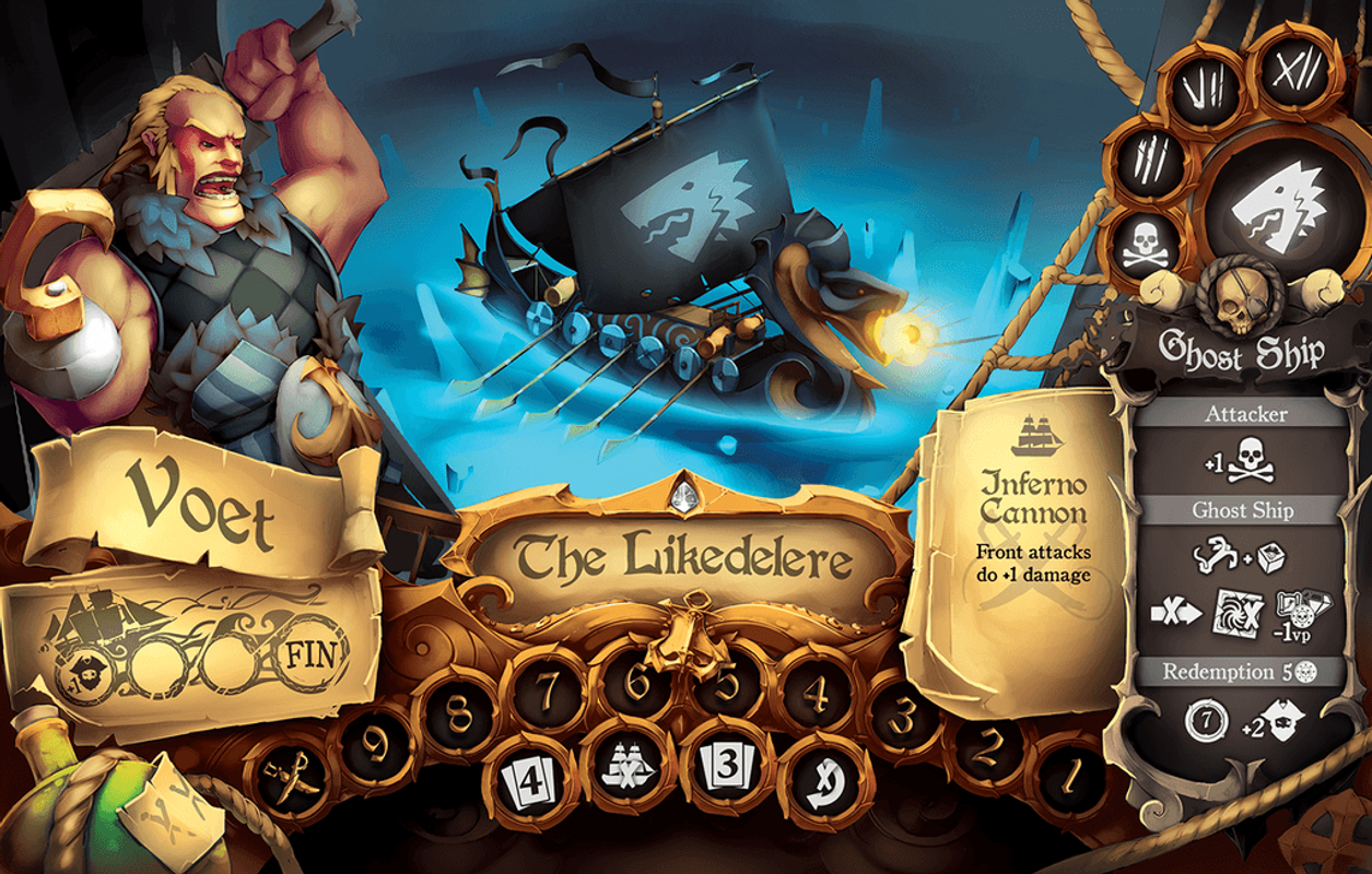 Dead Man's Doubloons game board