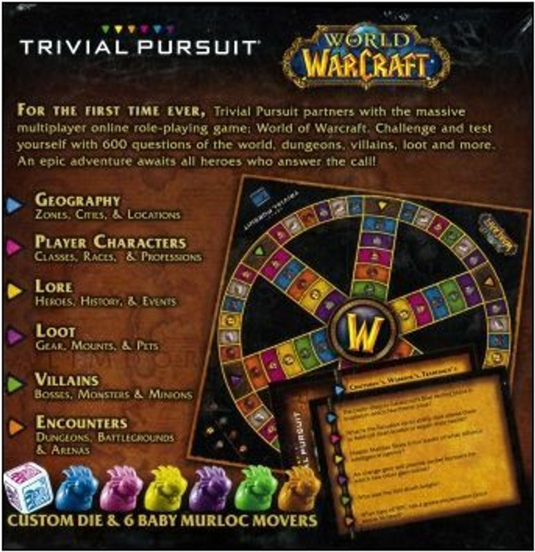 Trivial Pursuit: World of Warcraft back of the box