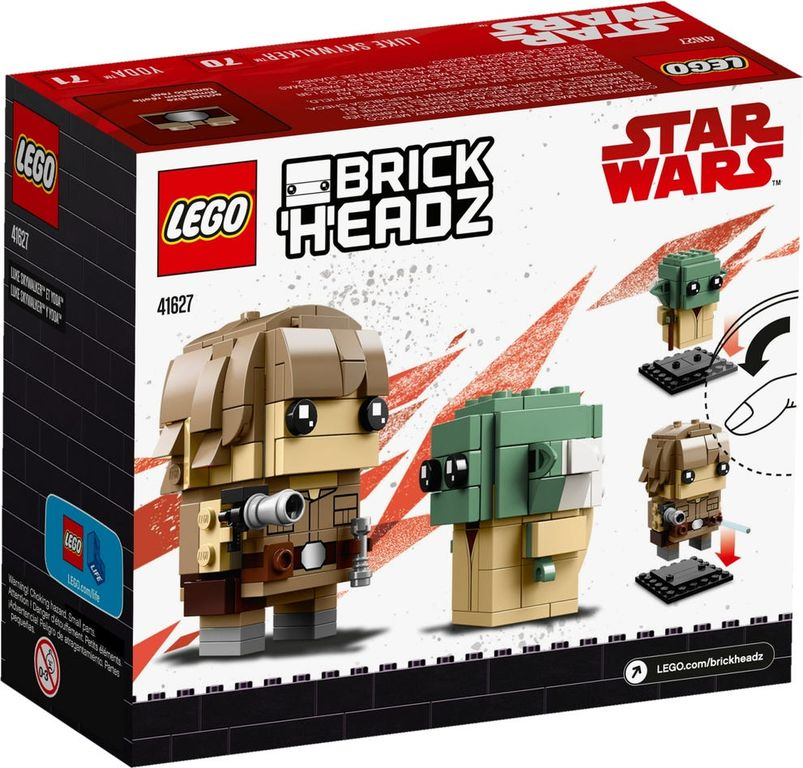 LEGO® BrickHeadz™ Luke Skywalker™ & Yoda™ back of the box