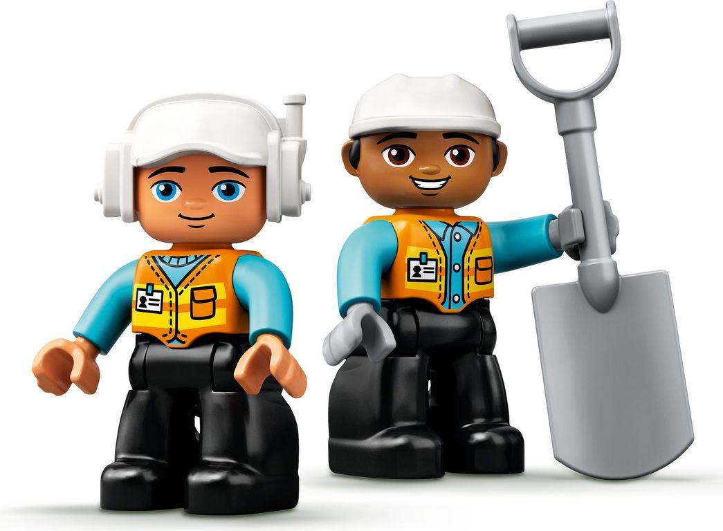 LEGO® DUPLO® Truck & Tracked Excavator minifigures